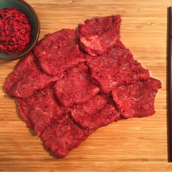 桃園八德美食-鼎太公馬祖紅麴滷味-紅麴燒肉系列-紅麴里肌燒肉