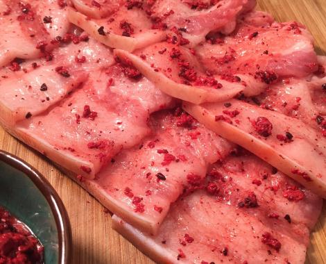 桃園八德美食-鼎太公馬祖紅麴滷味-紅麴燒肉系列-紅麴五花燒肉